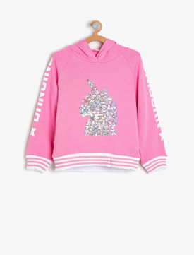 e7493d86f89db Koton. Koton Kız Çocuk Pul Detayli Sweatshirt
